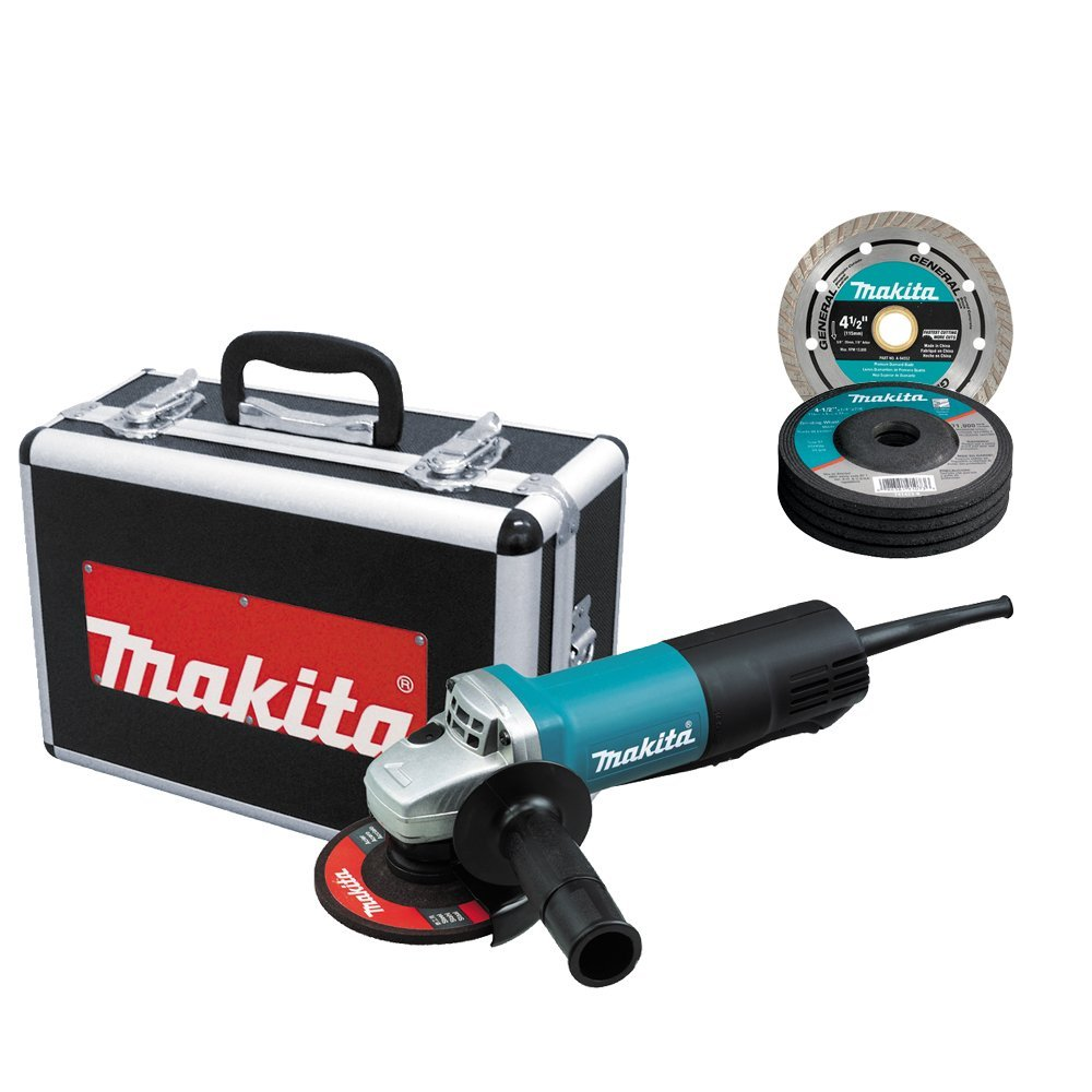 Makita 9557PBX1 4.5-Inch Angle Grinder with Aluminum Case
