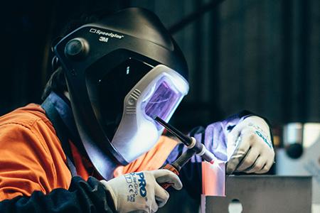 tig welder with helmet